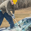 "For a fee, participants got to take a turn demolishing a donated car at a Moore Hall fundraiser during UAF's SpringFest Field Day April 28.  <div class=""ss-paypal-button"">Filename: LIF-14-4168-193.jpg</div><div class=""ss-paypal-button-end""></div>"