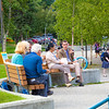 "Participants in the International Congress on Circumpolar Health enjoy an outdoor lunch on the campus core during the week-long conference. The event drew more than 500 health researchers, physicians and policymakers from around the world to the Fairbanks campus.  <div class=""ss-paypal-button"">Filename: LIF-12-3488-12.jpg</div><div class=""ss-paypal-button-end"" style=""""></div>"