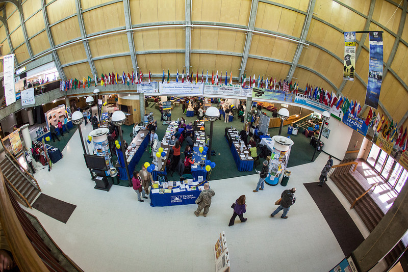 """UAF Career Services hosts a Student Job and Internship Fair at the Wood Center.  <div class=""""ss-paypal-button"""">Filename: LIF-13-3745-61.jpg</div><div class=""""ss-paypal-button-end"""" style=""""""""></div>"""