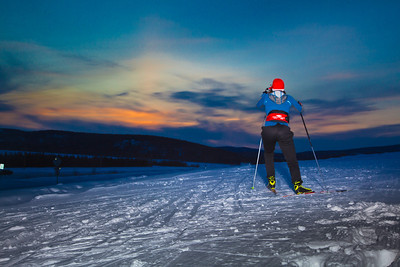 Freshman Michelle Klaben enjoys a trek on the UAF trails on a February afternoon.  Filename: LIF-12-3307-31.jpg