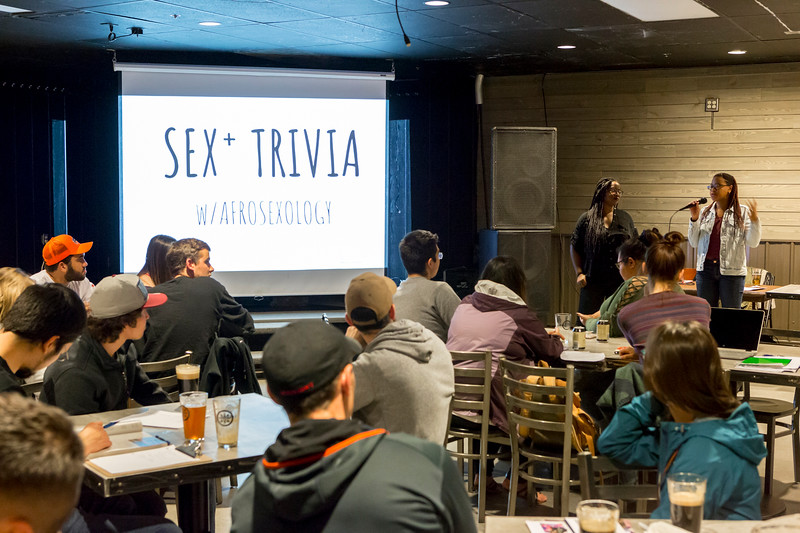 "Nanook Diversity Action Center presents special guests, Dalychia and Rafaella from Afrosexology, to wrap up Sexual Awareness Month with Sex Trivia at the Pub on Thursday, Sept. 21, 2018.  <div class=""ss-paypal-button"">Filename: LIF-18-5939-8.jpg</div><div class=""ss-paypal-button-end""></div>"