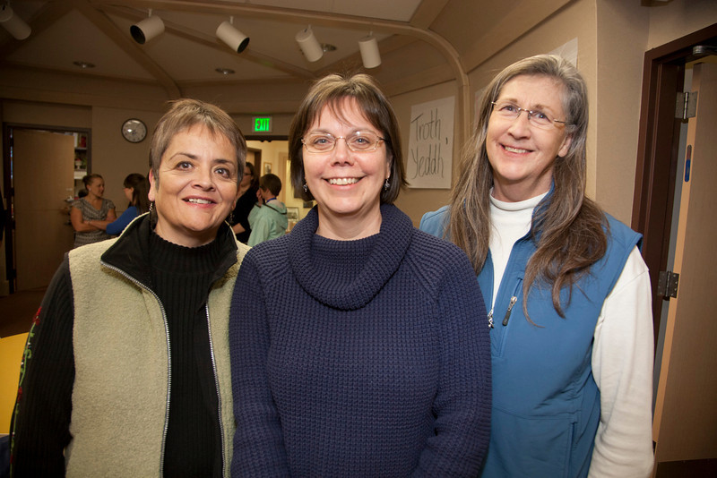 "Jojo Ducharme, Kay Thomas, and Sue McHenry of Rural Student Services pose for a photo at Thomas's retirement party.  <div class=""ss-paypal-button"">Filename: LIF-12-3271-11.jpg</div><div class=""ss-paypal-button-end"" style=""""></div>"
