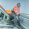 "A groundskeeper on the Facilities Services crew clears campus steps and sidewalks after a February morning snowfall.  <div class=""ss-paypal-button"">Filename: LIF-14-4072-35.jpg</div><div class=""ss-paypal-button-end""></div>"