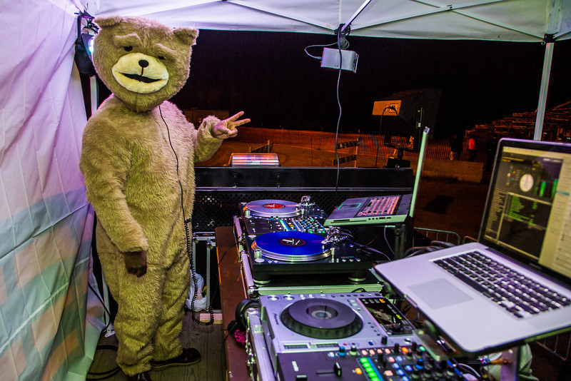 """A special guest DJ spun some tunes during UAF's 2012 Starvation Gulch bonfire celebration.  <div class=""""ss-paypal-button"""">Filename: LIF-12-3571-039.jpg</div><div class=""""ss-paypal-button-end"""" style=""""""""></div>"""