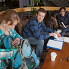 "Engineering students Joe Hunner and Tachit Chairat study with Kara La Rue in the lounge at the Wood Center.  <div class=""ss-paypal-button"">Filename: LIF-11-3190-20.jpg</div><div class=""ss-paypal-button-end"" style=""""></div>"