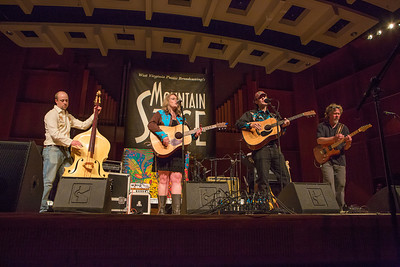 The Fairbanks band Steve Brown and the Bailers performed during one of two live recorded performances of the nationally broadcast radio show Mountain Stage in the Davis Concert Hall Aug. 17 and 18. The shows were sponsored by UAF Summer Sessions and KUAC-FM.  Filename: LIF-12-3502-079.jpg