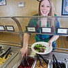 "Junior Anastasia Brease loads up on vegetables during lunch in the Lola Tilly Commons.  <div class=""ss-paypal-button"">Filename: LIF-11-3220-090.jpg</div><div class=""ss-paypal-button-end"" style=""""></div>"