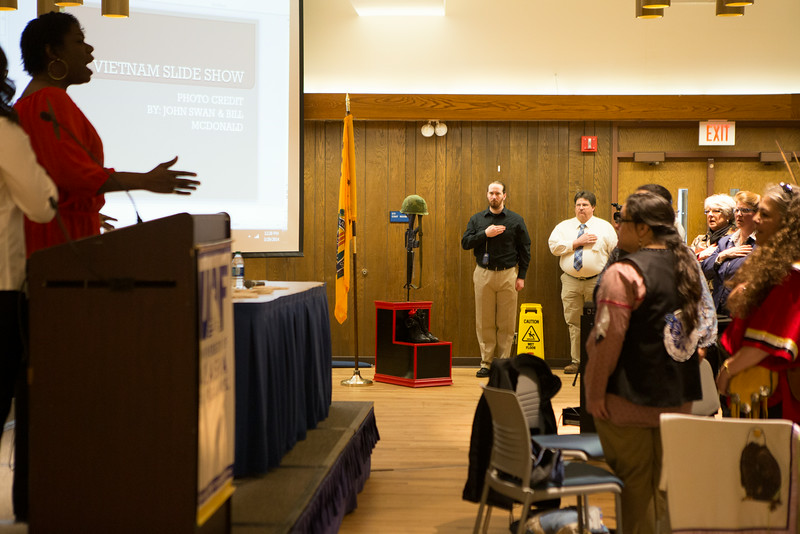 "UAF Student Veterans sponsored the Honoring Veterans Ceremony at the Wood Center Ballroom.  <div class=""ss-paypal-button"">Filename: LIF-14-4124-15.jpg</div><div class=""ss-paypal-button-end""></div>"