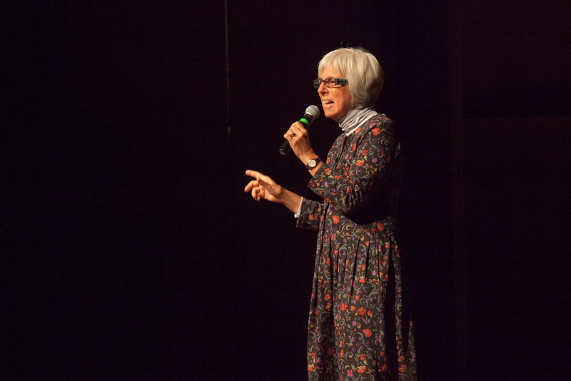 "UAF Summer Sessions Director Michelle Bartlett addresses a full house in the Davis Concert hall before introducing comedienne Paula Poundstone.  <div class=""ss-paypal-button"">Filename: LIF-12-3323-001.jpg</div><div class=""ss-paypal-button-end"" style=""""></div>"