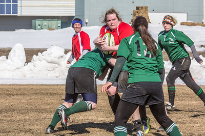 A women's rugby game was part of the attractions during SpringFest 2013.  Filename: LIF-13-3806-8.jpg