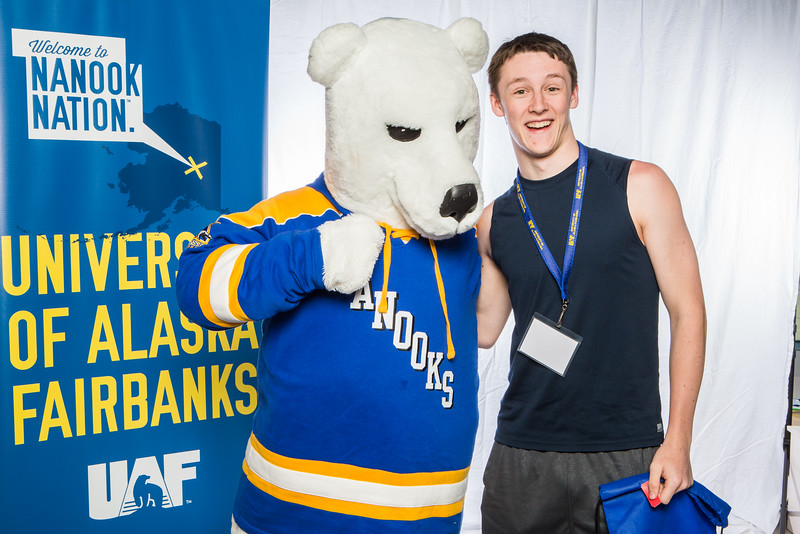 """Prospective students take a portrait during the summer 2016 Inside Out event hosted by the UAF's Office of Admissions and the Registrar.  <div class=""""ss-paypal-button"""">Filename: LIF-16-4926-31.jpg</div><div class=""""ss-paypal-button-end""""></div>"""