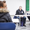 "Elizabeth Dougherty, center, and Ashley Wages, left, discuss programs offered by UAF Community and Technical College at the 2012 Alaska Interior Medical Education Summit Saturday, Oct. 27, 2012 at the Reichardt Building.  <div class=""ss-paypal-button"">Filename: LIF-12-3617-10.jpg</div><div class=""ss-paypal-button-end"" style=""""></div>"