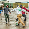 "It's staff members versus student researchers from Lab 1 during a wet and muddy soccer match on a summer night at UAF's Institute of Arctic Biology's Toolik Field Station on Alaska's North Slope.  <div class=""ss-paypal-button"">Filename: LIF-14-4216-135.jpg</div><div class=""ss-paypal-button-end""></div>"