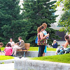 "Participants in the International Congress on Circumpolar Health enjoy an outdoor lunch on the campus core during the week-long conference. The event drew more than 500 health researchers, physicians and policymakers from around the world to the Fairbanks campus.  <div class=""ss-paypal-button"">Filename: LIF-12-3488-18.jpg</div><div class=""ss-paypal-button-end"" style=""""></div>"
