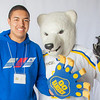 "Future UAF students pose with the Nanook mascot during InsideOut.  <div class=""ss-paypal-button"">Filename: LIF-12-3334-134.jpg</div><div class=""ss-paypal-button-end"" style=""""></div>"