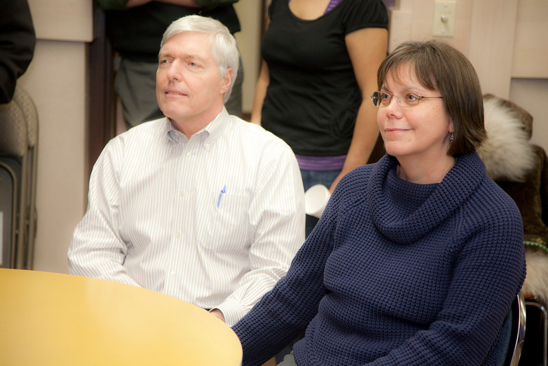 "Vice Provost Dana Thomas and his wife Kay Thomas attend her retirement party at Rural Student Services.  <div class=""ss-paypal-button"">Filename: LIF-12-3271-29.jpg</div><div class=""ss-paypal-button-end"" style=""""></div>"