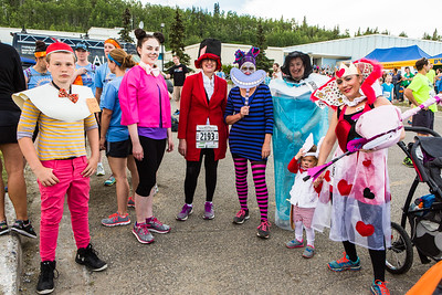 Participants in the 2016 Midnight Sun Run dress up in costume for the popular event near the summer solstice.  Filename: LIF-16-4918-46.jpg