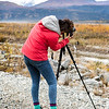 """Roberta Walker composes her shot of the mountains just south of Donnelly Dome on the Frozen Lenses Landscape Photography Workshop led by Baxter Bond on Saturday, Sept. 15, 2018.  <div class=""""ss-paypal-button"""">Filename: LIF-18-5931-61.jpg</div><div class=""""ss-paypal-button-end""""></div>"""
