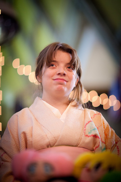 "Trisha Widmayer, a senior majoring in Japanese studies, wears her authentic kimono during UAF's PopCon event in the Wood Center.  <div class=""ss-paypal-button"">Filename: LIF-11-3218-010.jpg</div><div class=""ss-paypal-button-end"" style=""""></div>"