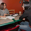 "Shehla Anjum interviews Australian UAF student May-Le Ng at the College Coffee House for an article she is writing about foreigners who chose to migrate to Alaska.  <div class=""ss-paypal-button"">Filename: LIF-11-3202-041.jpg</div><div class=""ss-paypal-button-end"" style=""""></div>"