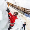 "Engineering major Ryan Kudo enjoys a late season climb up the UAF ice wall on April 4.  <div class=""ss-paypal-button"">Filename: LIF-14-4132-143.jpg</div><div class=""ss-paypal-button-end"" style=""""></div>"