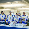 "Hockey players toss hot dogs during the Keep the Cup Preparty rally at the Wood Center.  <div class=""ss-paypal-button"">Filename: LIF-14-4103-24.jpg</div><div class=""ss-paypal-button-end""></div>"