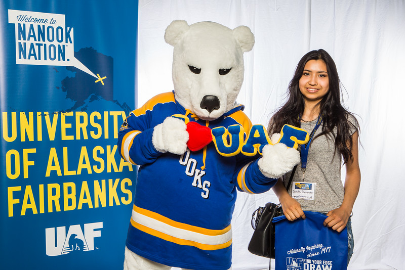 "Prospective students take a portrait during the summer 2016 Inside Out event hosted by the UAF's Office of Admissions and the Registrar.  <div class=""ss-paypal-button"">Filename: LIF-16-4926-18.jpg</div><div class=""ss-paypal-button-end""></div>"