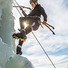 "Engineering major Heather Edic enjoys a late season climb up the UAF ice wall on April 4.  <div class=""ss-paypal-button"">Filename: LIF-14-4132-24.jpg</div><div class=""ss-paypal-button-end"" style=""""></div>"