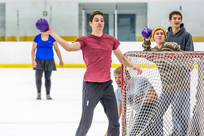 Photos taken during the ice dodgeball competition at the Patty Ice Arena during the 2014 Nanook Winter Carnival Feb. 22.  Filename: LIF-14-4087-81.jpg