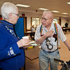 "Associate Professor Judy Triplehorn talks about patents with 96 year old Alaska inventor Ed Ashby.  <div class=""ss-paypal-button"">Filename: LIF-12-3280-60.jpg</div><div class=""ss-paypal-button-end"" style=""""></div>"