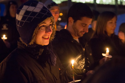 Ellen Mitchell attends a ceremony commemorating the 1957 Tradition Stone candle light vigil on Constitution Park on March of 2013.  Filename: LIF-13-3763-13.jpg