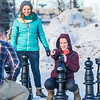 "From left: James Gilchrest, Johanna Bocklet, and Jessica Herzog play outdoor chess during winter on campus.  <div class=""ss-paypal-button"">Filename: LIF-16-4803-40.jpg</div><div class=""ss-paypal-button-end""></div>"