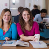 "UAF students Megan Gilmore and Ashley Bartolowits sit with their cofee and study materials in the 24-hour study area of the Rasmuson Library.  <div class=""ss-paypal-button"">Filename: LIF-11-3212-147.jpg</div><div class=""ss-paypal-button-end"" style=""""></div>"