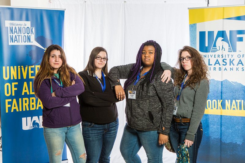 """Future UAF students and family members pose during Inside Out.  <div class=""""ss-paypal-button"""">Filename: LIF-16-4839-13.jpg</div><div class=""""ss-paypal-button-end""""></div>"""