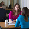 "UAF students Megan Gilmore and Ashley Bartolowits sit with their cofee and study materials in the 24-hour study area of the Rasmuson Library.  <div class=""ss-paypal-button"">Filename: LIF-11-3212-078.jpg</div><div class=""ss-paypal-button-end"" style=""""></div>"
