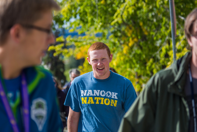 """Students enjoy a campus tour during their first days on campus at the start of the fall 2015 semester.  <div class=""""ss-paypal-button"""">Filename: LIF-15-4638-003.jpg</div><div class=""""ss-paypal-button-end""""></div>"""