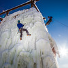 "Students take advantage of nice spring weather to try out their climbing skills on the new ice wall near the SRC.  <div class=""ss-paypal-button"">Filename: LIF-12-3321-044.jpg</div><div class=""ss-paypal-button-end"" style=""""></div>"