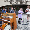 "Students, faculty, and community members buying ice cream from the Student Activities Office are entertained by local Fairbanks band, Haifa, in front of the Wood Center.  <div class=""ss-paypal-button"">Filename: LIF-12-3425-7.jpg</div><div class=""ss-paypal-button-end"" style=""""></div>"
