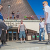 "A group of students play hacky sack outside the Wood Center on campus.  <div class=""ss-paypal-button"">Filename: LIF-12-3356-102.jpg</div><div class=""ss-paypal-button-end"" style=""""></div>"