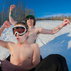"""Jimmy Donohue (back) and Bryan Johnson (front) go sledding on a sunny day in February.  <div class=""""ss-paypal-button"""">Filename: LIF-12-3289-118.jpg</div><div class=""""ss-paypal-button-end"""" style=""""""""></div>"""
