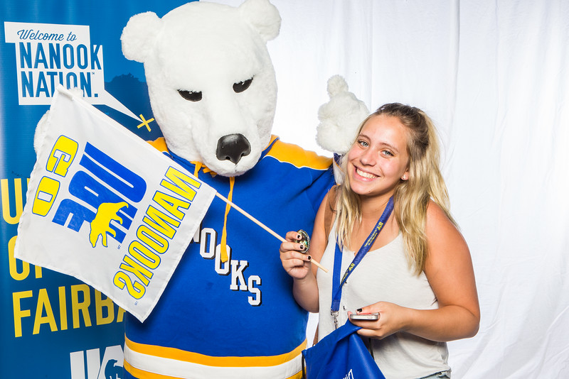 """Prospective students take a portrait during the summer 2016 Inside Out event hosted by the UAF's Office of Admissions and the Registrar.  <div class=""""ss-paypal-button"""">Filename: LIF-16-4926-28.jpg</div><div class=""""ss-paypal-button-end""""></div>"""