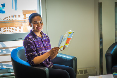 Meranda Okoomealingok, a Native of Savonga on St. Lawrence Island, is studying to be a registered nurse at UAF's Northwest Campus in Nome.  Filename: LIF-16-4865-370.jpg