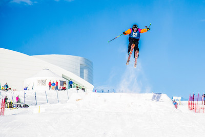 UAF students and local high schoolers signed up to compete in the inaugural si and snowboard jump competition on the new terrain park in March, 2013.  Filename: LIF-13-3750-327.jpg