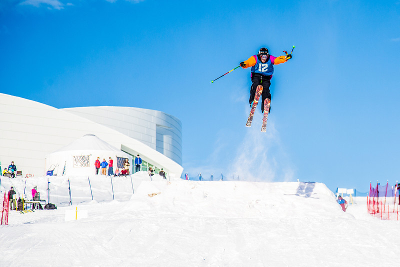 """UAF students and local high schoolers signed up to compete in the inaugural si and snowboard jump competition on the new terrain park in March, 2013.  <div class=""""ss-paypal-button"""">Filename: LIF-13-3750-327.jpg</div><div class=""""ss-paypal-button-end"""" style=""""""""></div>"""