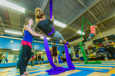 Members of the UAF Silk Club practice their formations in the Student Recreation Center on the Fairbanks campus. The group, which boasts about 25 students and staff members meet twice a week to learn new moves and increase strength and flexibility.  Filename: LIF-13-4025-40.jpg