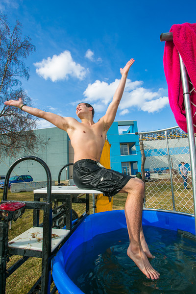 """Andre Koehrer gets dunked repeatedly to raise funds for the pre-med student club during SpringFest 2012.  <div class=""""ss-paypal-button"""">Filename: LIF-12-3382-55.jpg</div><div class=""""ss-paypal-button-end"""" style=""""""""></div>"""