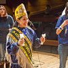 "Reigning Miss Indian World Marjorie Tahbone joined the Troth Yeddha' dance group on stage as they performed an open invitational dance during the opening evening of the 2012 Festival of Native Arts in the Charles Davis Concert Hall.  <div class=""ss-paypal-button"">Filename: LIF-12-3313-41.jpg</div><div class=""ss-paypal-button-end"" style=""""></div>"