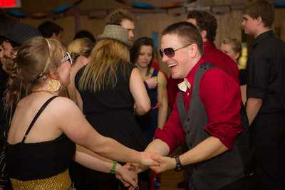 Walter DiSarro dances with Denali Critchett at the UAF Spring Formal sponsored by Alpha Phi Omega at the Wood Center Ballroom.  Filename: LIF-13-3774-25.jpg