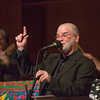 "Host Larry Groce welcomes a packed house to one of two live recorded performances of the nationally broadcast radio show Mountain Stage in the Davis Concert Hall Aug. 17 and 18. The shows were sponsored by UAF Summer Sessions and KUAC-FM.  <div class=""ss-paypal-button"">Filename: LIF-12-3502-041.jpg</div><div class=""ss-paypal-button-end"" style=""""></div>"