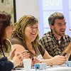 "Graduate students Benjamin Rance, right, and Shelley Cotton battle against their professors, Alexandra Oliviera and Stephen Sparrow in a friendly game of Jeopardy during UAF's Food Day in mid-October at the Wood Center.  <div class=""ss-paypal-button"">Filename: LIF-12-3590-65.jpg</div><div class=""ss-paypal-button-end"" style=""""></div>"